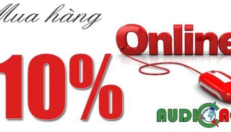 Giảm Giá Ngay 10% Khi Mua Hàng Online