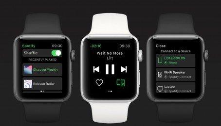 Spotify chính thức tung ra ứng dụng dành riêng cho Apple Watch