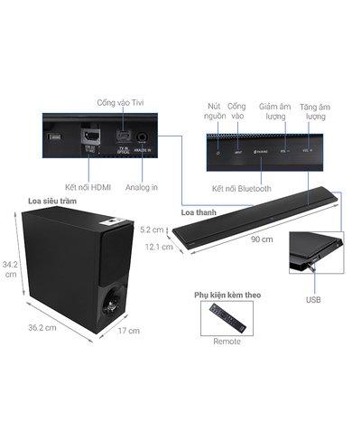 Soundbar SONY 2.1CH HT-CT390 chính hãng