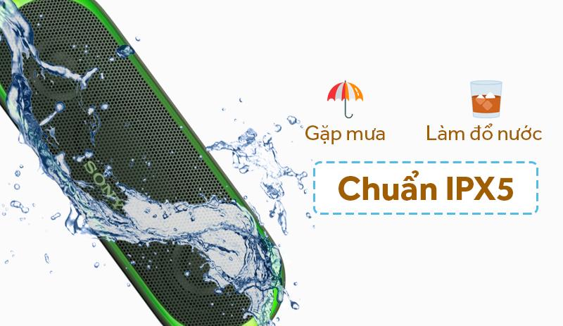 Khả năng chống thấm nước chuẩn IPX5